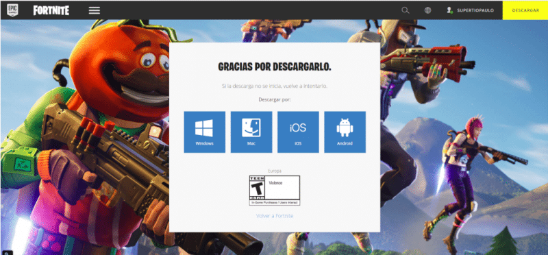 fortnite pc descargar