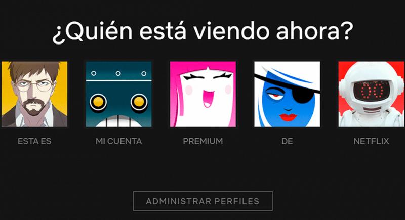 cuenta premium activa de Netflix