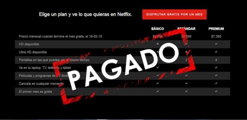 como pagar Netflix sin tarjeta de crédito