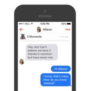 ejemplos cómo iniciar una conversación en Tinder