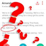 ¿Qué significa 420 en Tinder?